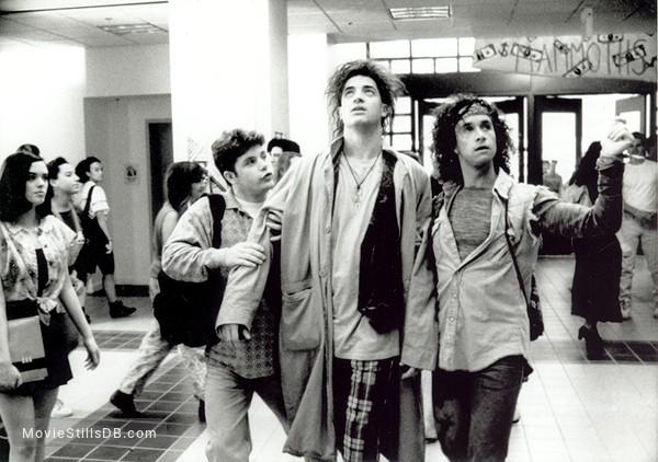 Encino Man - Publicity still of Sean Astin, Brendan Fraser & Pauly Shore
