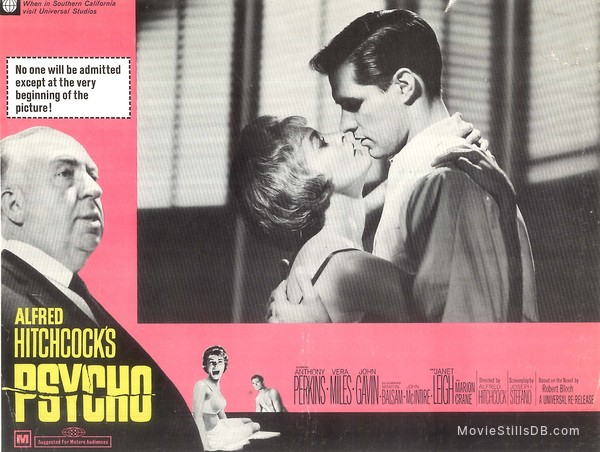 Psycho - Lobby card with Anthony Perkins & Janet Leigh