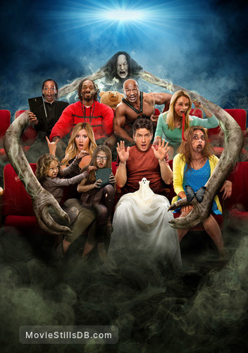 Scary Movie 5 - Promotional art with Ashley Tisdale, Simon Rex, Snoop Dogg, Sarah Hyland, Charlie Sheen, Mike Tyson & Katt Williams