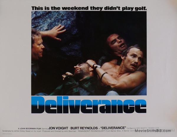 Deliverance - Lobby card with Ned Beatty, Burt Reynolds, Jon Voight & Herbert 'Cowboy' Coward