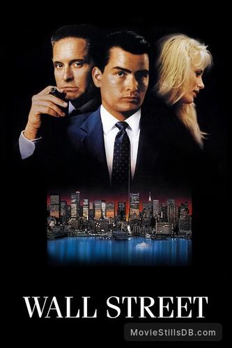 Wall Street - Promotional art with Charlie Sheen, Michael Douglas, Martin Sheen & Daryl Hannah