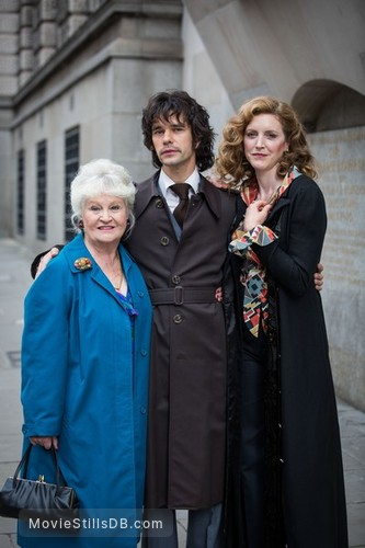 A Very English Scandal - Publicity still of Michele Dotrice, Ben Whishaw & Marianne Oldham