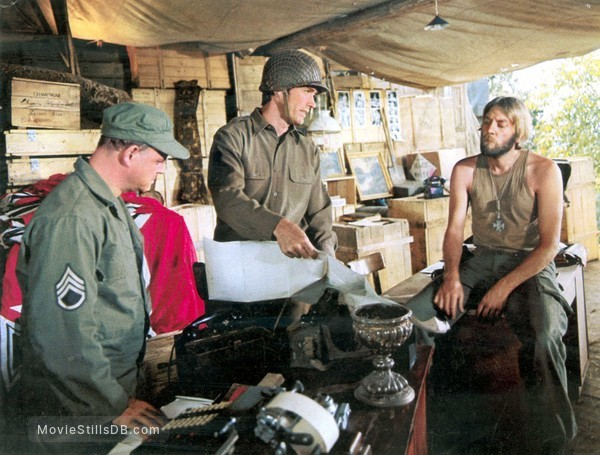 Kelly's Heroes - Publicity still of Clint Eastwood, Donald Sutherland & Don Rickles