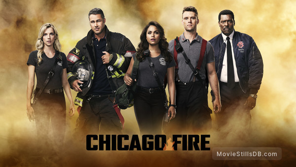 Chicago Fire - Promotional art with Jesse Spencer, Eamonn Walker, Taylor Kinney, Monica Raymund & Kara Killmer