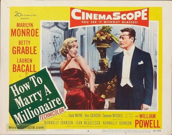 How to Marry a Millionaire - Lobby card