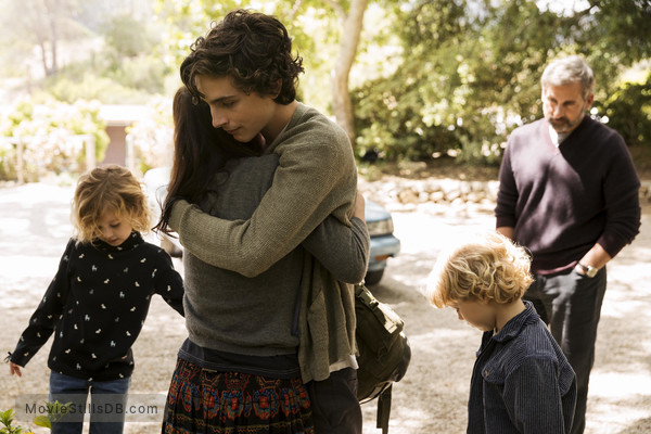 Beautiful Boy - Publicity still of Timothée Chalamet & Steve Carell