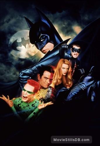 Batman Forever - Promotional art with Val Kilmer, Tommy Lee Jones, Jim Carrey, Nicole Kidman & Chris O'Donnell
