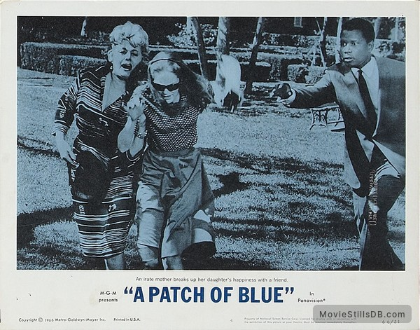 A Patch of Blue - Lobby card with Sidney Poitier, Elizabeth Hartman & Shelley Winters