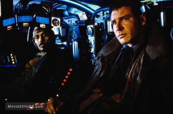 Blade Runner - Publicity still of Harrison Ford & Edward James Olmos