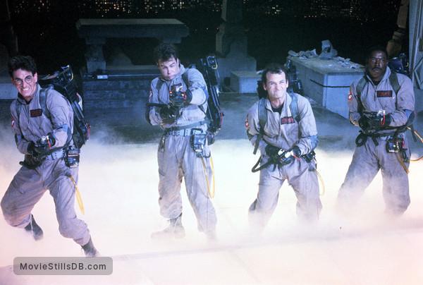 Ghost Busters - Publicity still of Bill Murray, Ernie Hudson, Dan Aykroyd & Harold Ramis