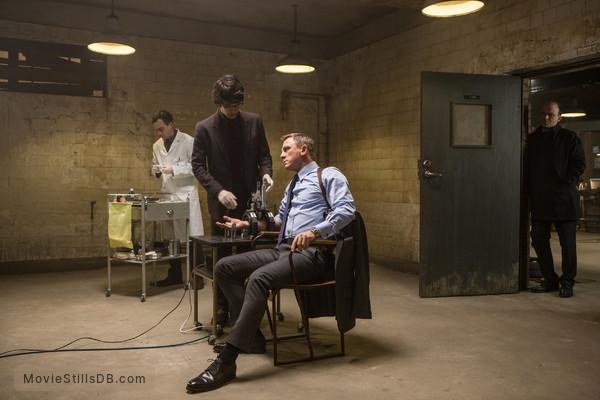 Spectre - Publicity still of Ben Whishaw & Daniel Craig