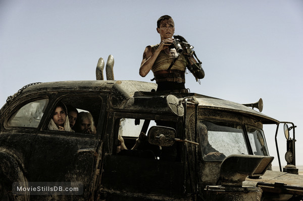 Mad Max: Fury Road - Publicity still of Charlize Theron, Zoë Kravitz, Courtney Eaton & Abbey Lee