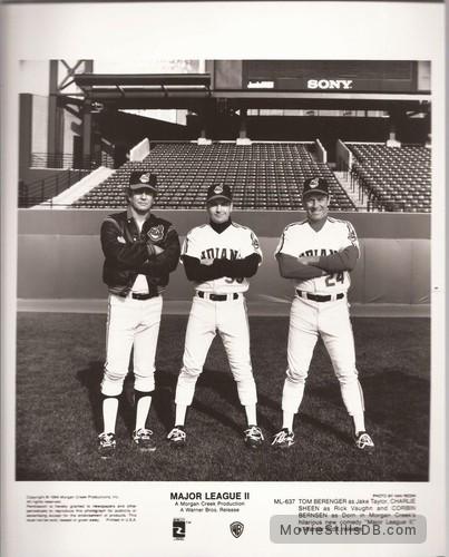 Major League - Publicity still of Tom Berenger, Charlie Sheen & Corbin Bernsen