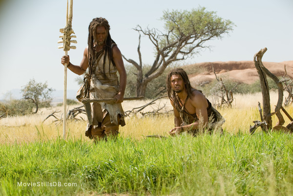10,000 BC - Publicity still of Steven Strait & Cliff Curtis