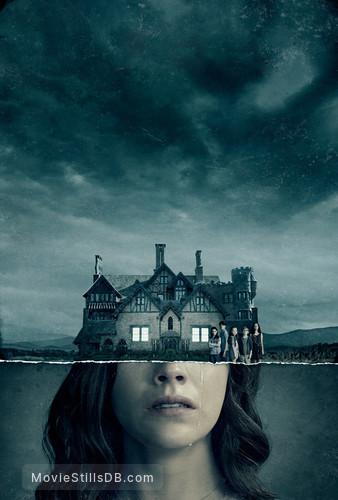 The Haunting of Hill House - Promotional art with Mckenna Grace, Lulu Wilson, Julian Hilliard, Paxton Singleton, Violet McGraw & Carla Gugino