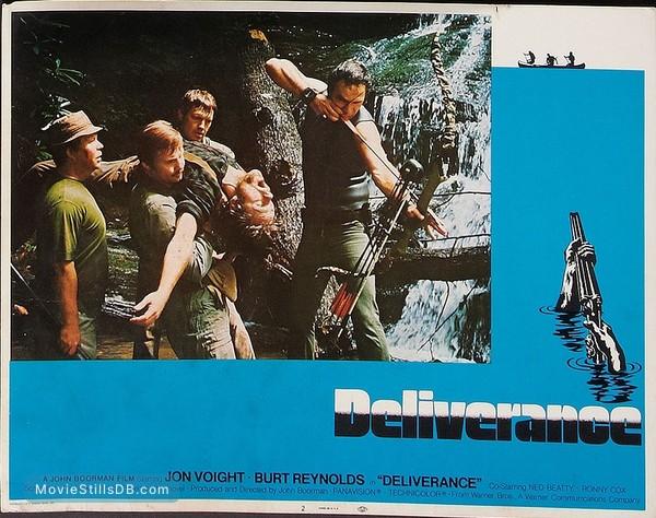 Deliverance - Lobby card with Burt Reynolds, Ned Beatty, Jon Voight, Ronny Cox & Bill McKinney