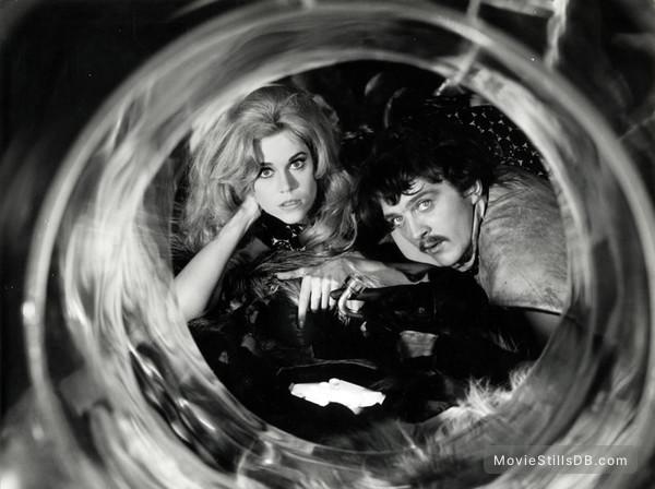 Barbarella - Publicity still of Jane Fonda & Terence Stamp