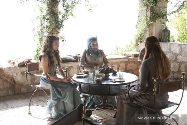 Game of Thrones - Publicity still of Diana Rigg & Natalie Dormer