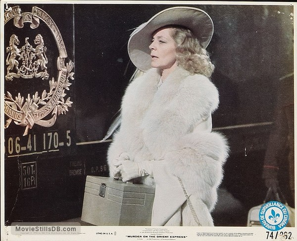 Murder on the Orient Express - Lobby card with Lauren Bacall