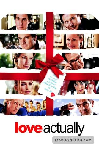 Love Actually - Promotional art with Colin Firth, Keira Knightley, Bill Nighy, Martine McCutcheon, Hugh Grant, Alan Rickman, Laura Linney, Liam Neeson, Emma Thompson & Rowan Atkinson