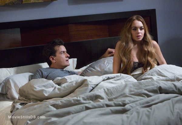 Scary Movie 5 - Publicity still of Lindsay Lohan & Charlie Sheen