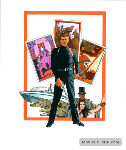 Live And Let Die - Promotional art with Roger Moore, Jane Seymour & Geoffrey Holder
