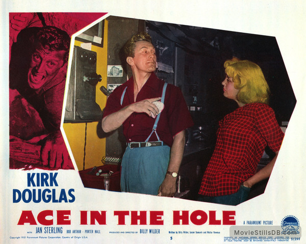 Ace in the Hole - Lobby card with Kirk Douglas & Jan Sterling
