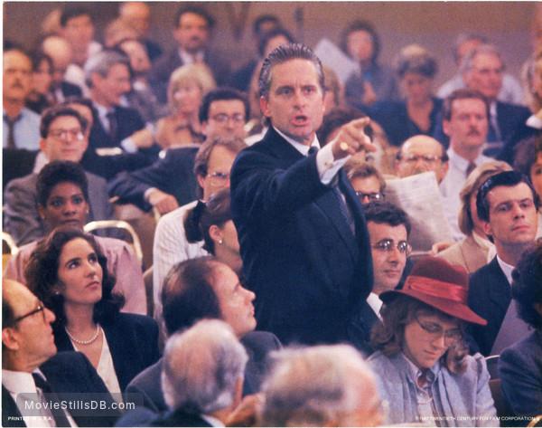 Wall Street - Lobby card with Michael Douglas & Saul Rubinek