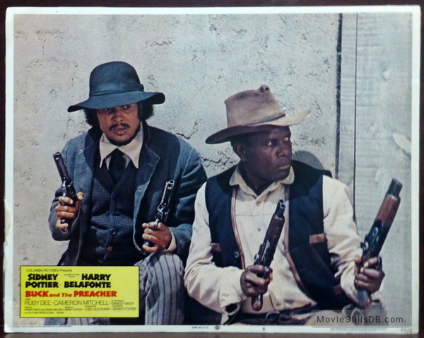 Buck and the Preacher - Lobby card with Harry Belafonte & Sidney Poitier