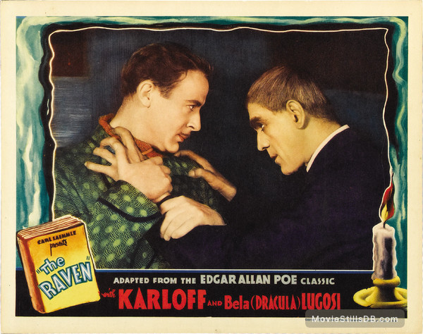 The Raven - Lobby card with Boris Karloff & Lester Matthews