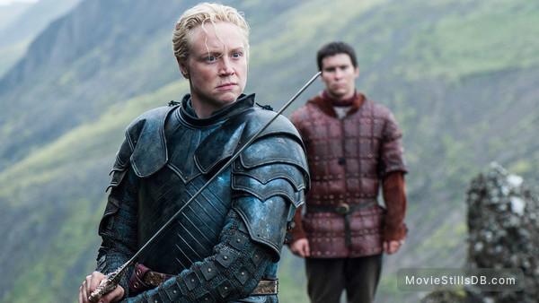 Game of Thrones - Publicity still of Gwendoline Christie & Daniel Portman