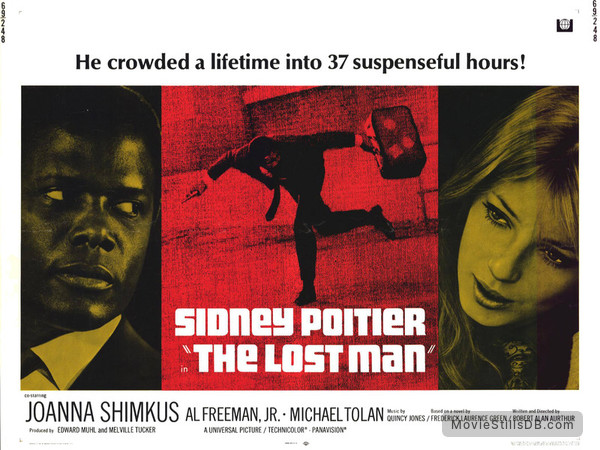 The Lost Man - Lobby card with Sidney Poitier & Joanna Shimkus