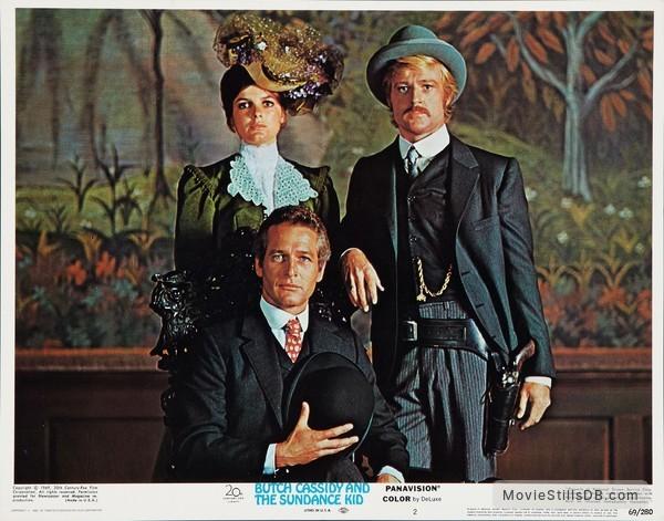 Butch Cassidy and the Sundance Kid - Lobby card with Paul Newman, Robert Redford & Katharine Ross