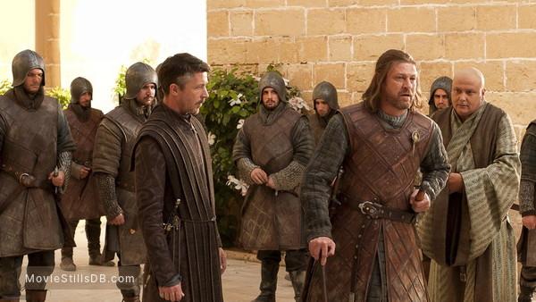Game of Thrones - Publicity still of Sean Bean, Aidan Gillen & Conleth Hill