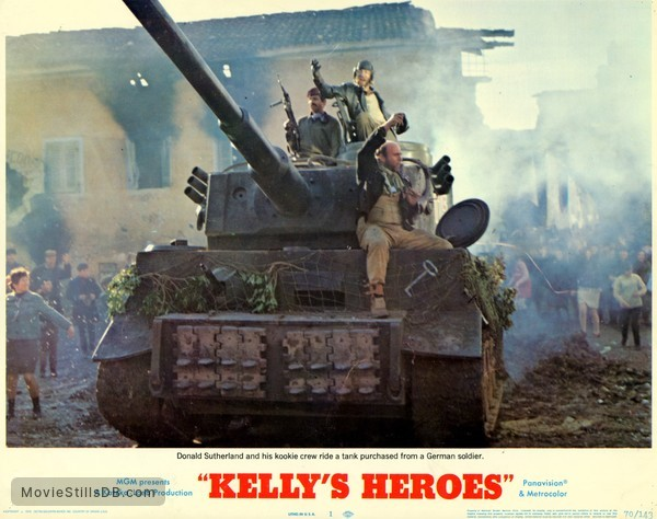 Kelly's Heroes - Lobby card with Donald Sutherland & Gavin MacLeod