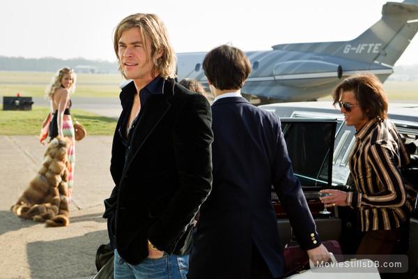 Rush - Publicity still of Chris Hemsworth & Olivia Wilde