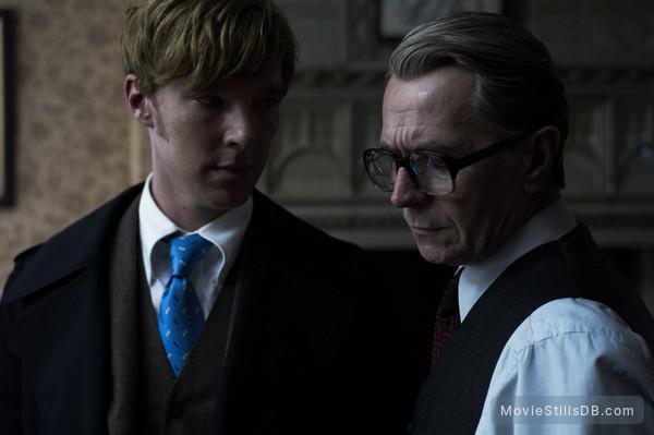 Tinker Tailor Soldier Spy - Publicity still of Gary Oldman & Benedict Cumberbatch