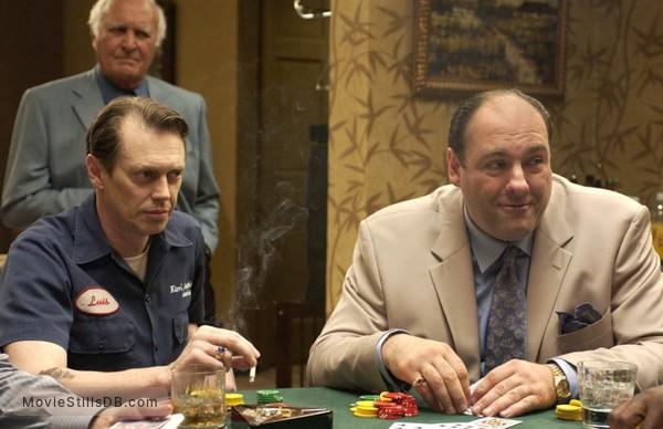 The Sopranos - Publicity still of James Gandolfini, Steve Buscemi & Robert Loggia