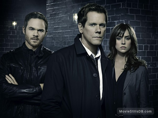 The Following - Publicity still of Kevin Bacon, Shawn Ashmore & Jessica Stroup