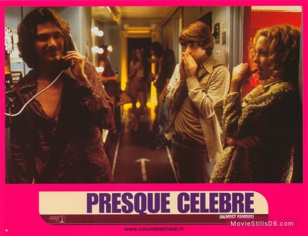 Almost Famous - Lobby card with Kate Hudson, Patrick Fugit & Billy Crudup