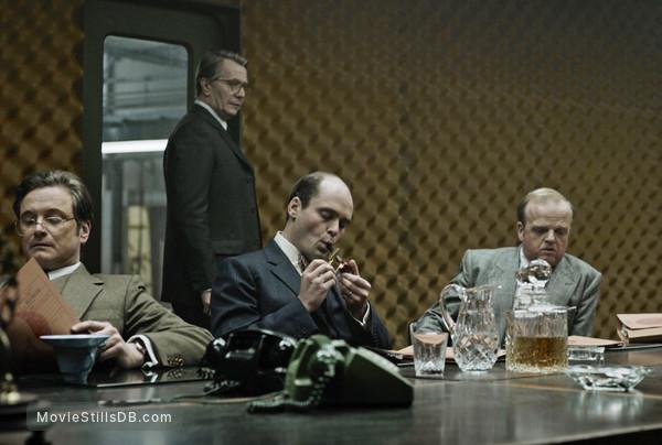Tinker Tailor Soldier Spy - Publicity still of Colin Firth, David Dencik, Ciarán Hinds & Gary Oldman