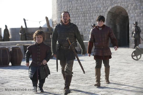 Game of Thrones - Publicity still of Peter Dinklage, Jerome Flynn & Daniel Portman