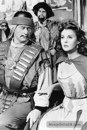 The Conqueror - Publicity still of John Wayne & Susan Hayward