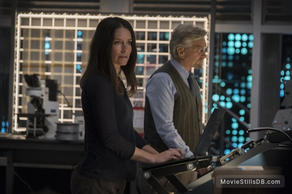 Ant-Man and the Wasp - Publicity still of Evangeline Lilly & Michael Douglas
