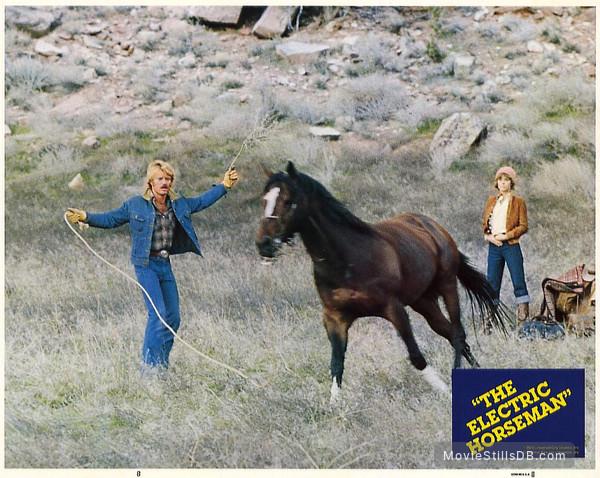 The Electric Horseman - Lobby card with Jane Fonda & Robert Redford
