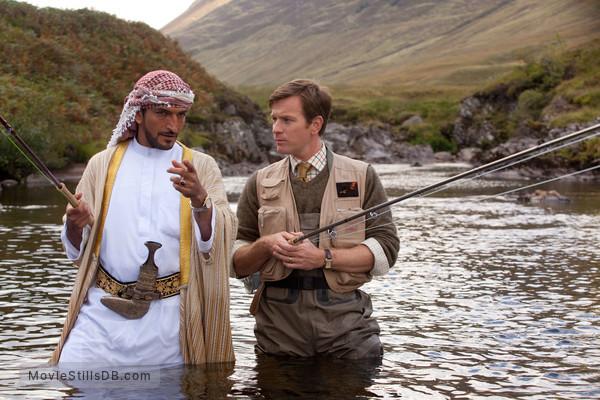 Salmon Fishing in the Yemen - Publicity still of Ewan McGregor & Amr Waked