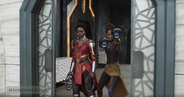 Black Panther - Publicity still of Lupita Nyong'o & Letitia Wright