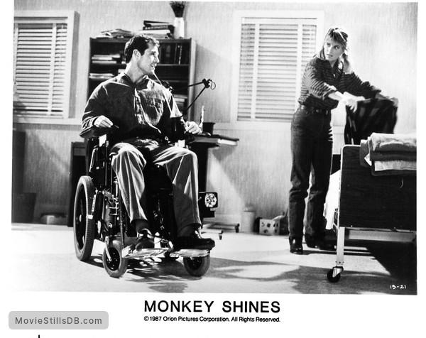 Monkey Shines - Publicity still of Jason Beghe, Kate McNeil & John Pankow