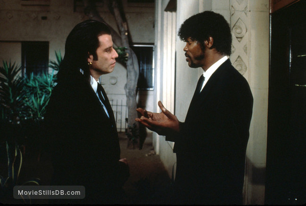 Pulp Fiction - Publicity still of Samuel L. Jackson & John Travolta