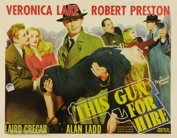 This Gun for Hire - Lobby card with Veronica Lake & Alan Ladd